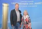 Arno Volkwardt, Bürgermeister Gemeinde Rankwitz und Gudrun Oberländer, Landmarkt Oberländer in Rankwitz/Usedom