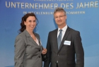 Christa-Maria Wendig, LBG Landbetriebsgesellschaft Rehberg mbH, und Ulrich Worgitzky, Sparkasse Mecklenburg-Strelitz