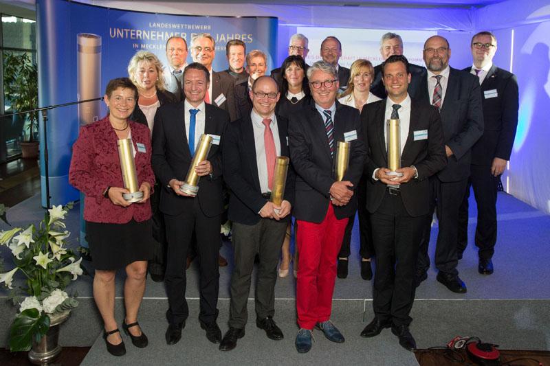 Die Preisträger und Finalisten des Wettbewerbs zum Unternehmer des Jahres 2014